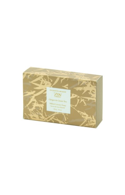Image of Milled Luxury Soap in Box, Ginger & Green Tea - 156 g