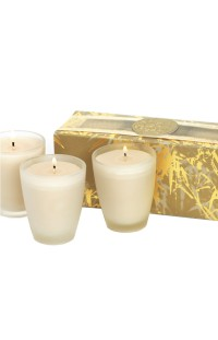 Votive Soy Candle, Linden & Mimosa - Set of 3