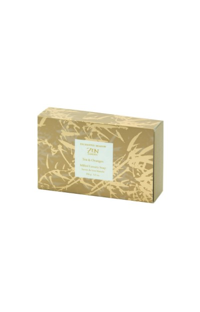 Image of Milled Luxury Soap in Box, Tea & Oranges - 156 g