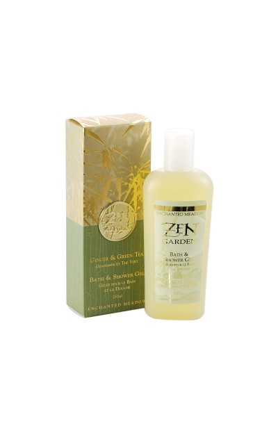 Bath & Shower Gel, Ginger & Green Tea - 250ml