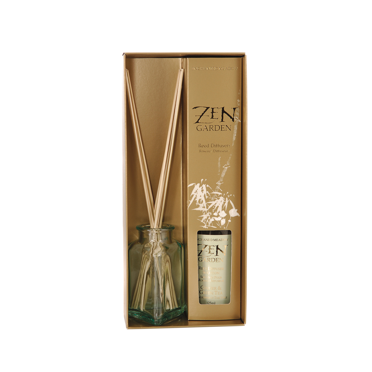 Reed Diffuser Gift Set, Ginger & Green Tea | Natural Body ...